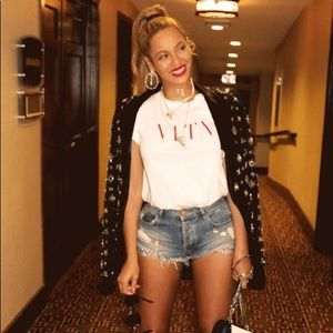 We the free .. Free people distressed shorts